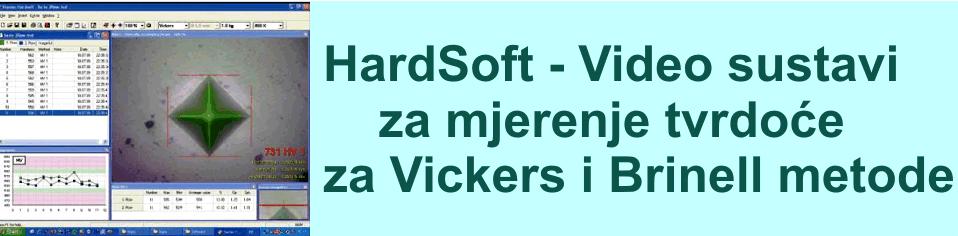 HardSoft - program za očitavanje Vickers i Brinell tvrdoće